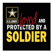 "Cute Usarmy Square Car Magnet 3"" x 3"""