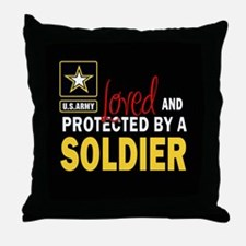 Funny Army girlfriend Throw Pillow