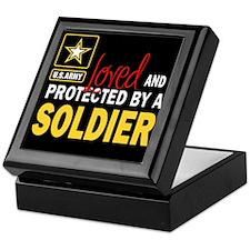 Cute Soldier love Keepsake Box