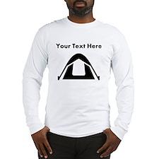 Custom Camping Tent Long Sleeve T-Shirt