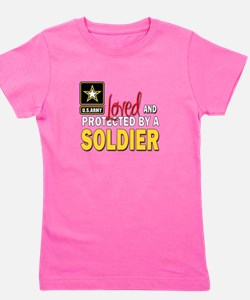 Unique Army son Girl's Tee