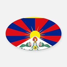 Tibet flag Oval Car Magnet