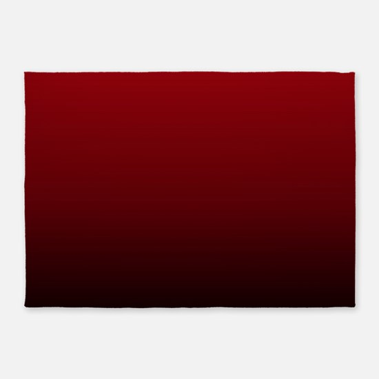 vampire red ombre 5'x7'Area Rug