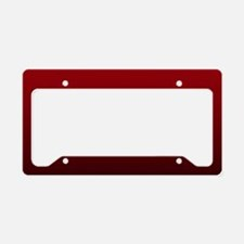 vampire red ombre License Plate Holder