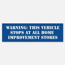 This vehicle stops at all hardware stores - Blue