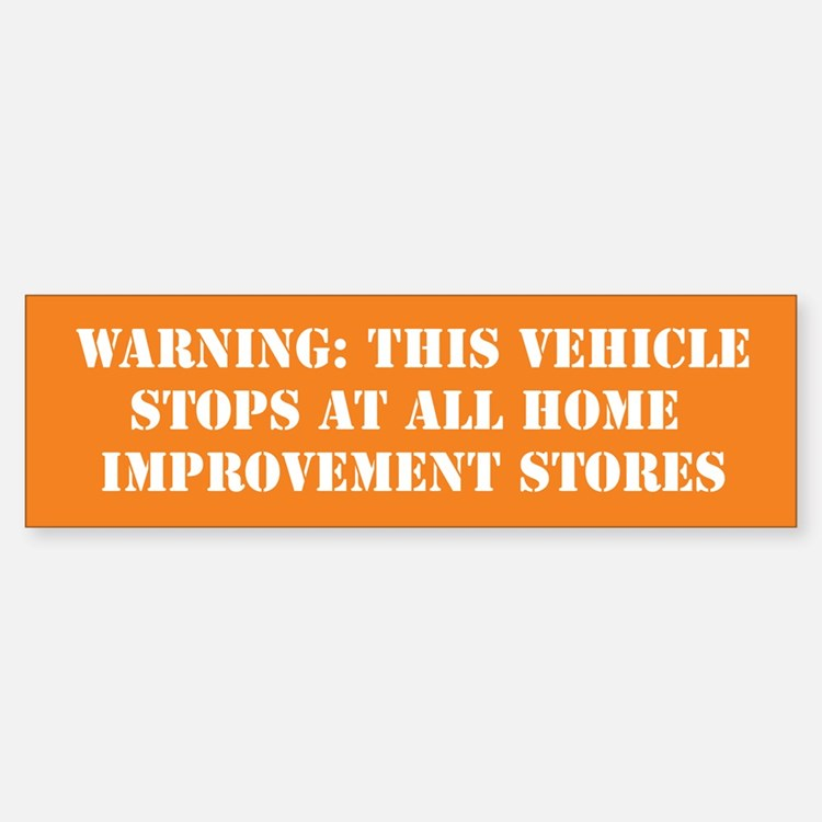 This vehicle stops at all hardware stores - Orange