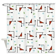 Retro Diodes Shower Curtain