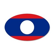 Laos flag Wall Decal