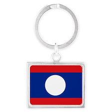 Laos flag Landscape Keychain