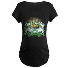 I'm a Lucky Sister Maternity T-Shirt