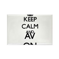 Keep Calm and Av ON Magnets