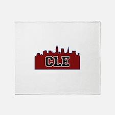 CLE Maroon/Black Throw Blanket