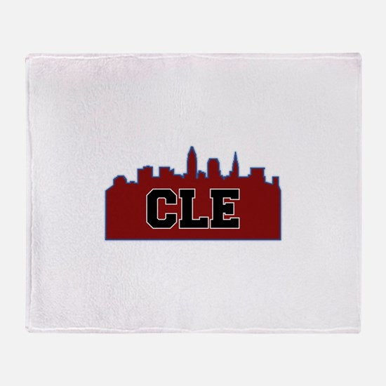 CLE Maroon/Black Throw Blanket