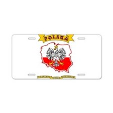 Polish Pride Aluminum License Plate