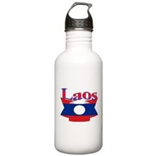 Laos flag ribbon Water Bottle