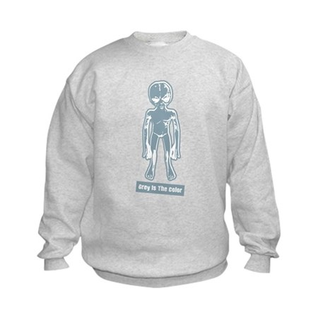 Grey Is The Color Kids Sweatshirt
