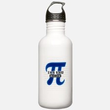 Pi Day Party Design Water Bottle