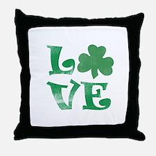 Shamrock LOVE Throw Pillow