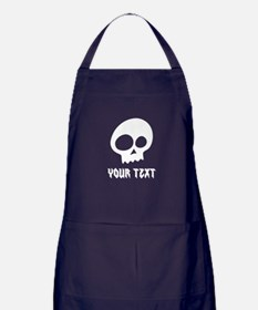 CUSTOM Skull with Your Text/Name Apron (dark)