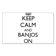 Keep Calm and Banjos ON Decal