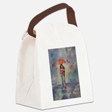 Rainy Day Lovers Canvas Lunch Bag