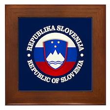 Slovenia (rd) Framed Tile