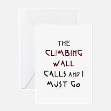 climbing wall calls Greeting Card