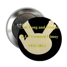 "Leonard Nimoy RIP 2.25"" Button (10 pack)"