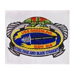 USS GREENLING Throw Blanket