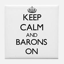 Keep Calm and Barons ON Tile Coaster