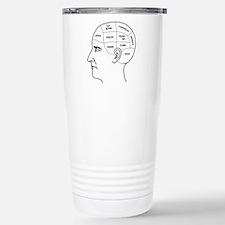 Meathead Phrenologist Stainless Steel Travel Mug
