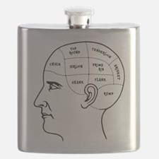 Meathead Phrenologist Flask