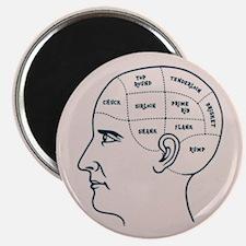 Meathead Phrenologist Magnet