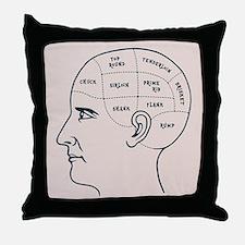 Meathead Phrenologist Throw Pillow