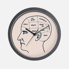 Meathead Phrenologist Wall Clock