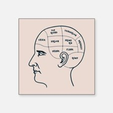 "Meathead Phrenologist Square Sticker 3"" x 3"""