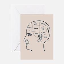 Meathead Phrenologist Greeting Card
