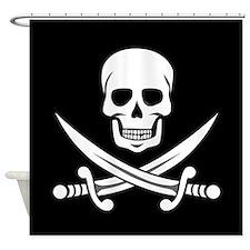 Skull and Crossbones Shower Curtain