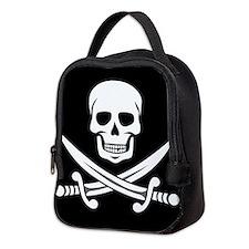 Skull and Crossbones Neoprene Lunch Bag