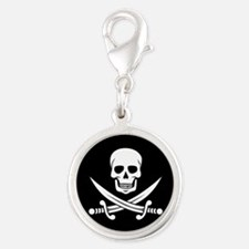 Skull and Swords Jolly Roger Charms