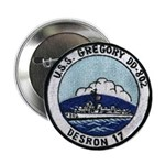 """USS GREGORY 2.25"""" Button"""