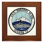 USS GREGORY Framed Tile