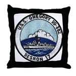 USS GREGORY Throw Pillow