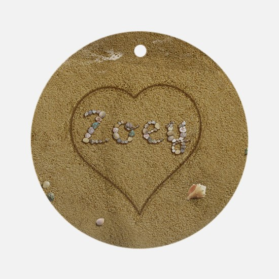 Zoey Beach Love Ornament (Round)