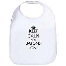 Keep Calm and Batons ON Bib