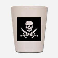Skull and Swords Jolly Roger Shot Glass