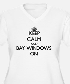 Keep Calm and Bay Windows ON Plus Size T-Shirt
