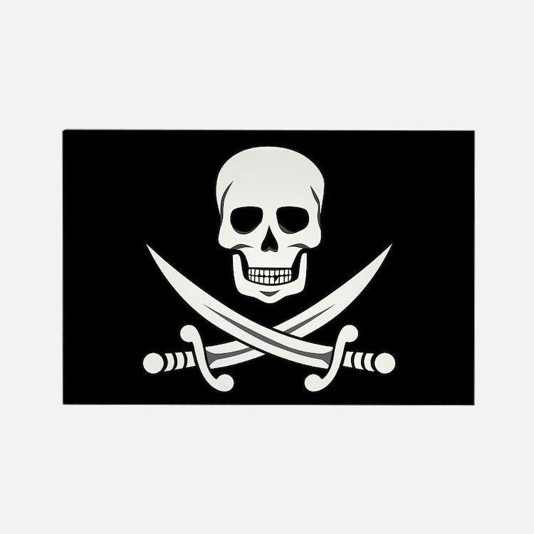 Skull and Swords Jolly Roger Magnets
