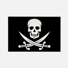 Skull and Swords Jolly Roger Magnets