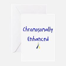 Chromosomally Enhanced Ribbon Greeting Cards (Pk o